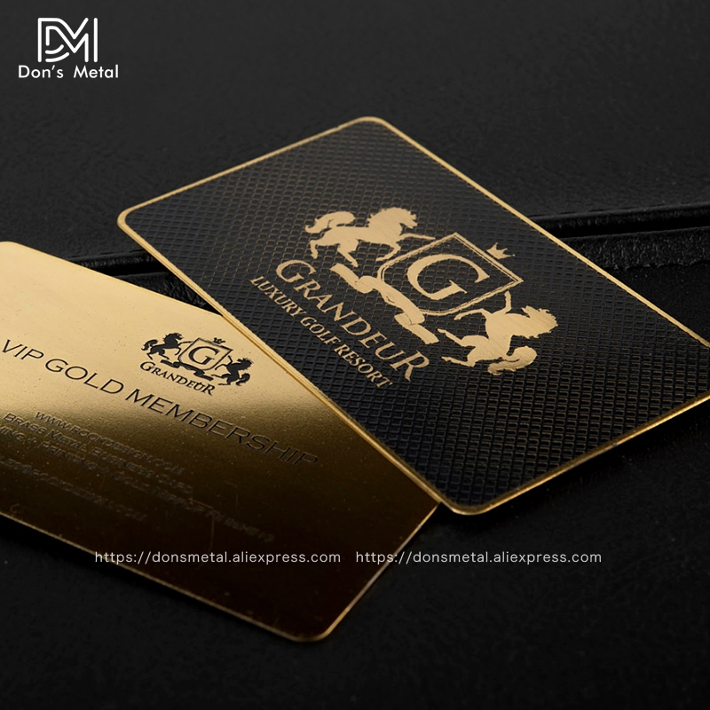 Golden And Black Membership Card Stainless Metal Card Business Card