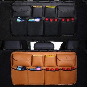 Image 2 - O SHI sac de rangement pour siège arrière de voiture en cuir PU