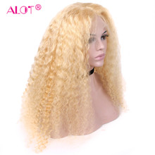 613 Blonde Brazilian Deep Wave Pre Plucked With Baby Hair Glueless Human 13x4 Lace Front Wig For Black Women Alot