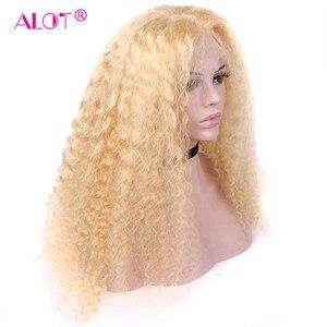 Perruque Lace Front Wig brésilienne sans colle-Alot | Cheveux naturels, Deep Wave, 13x4, pre-plucked, avec Baby Hair, sans colle, pour femmes noires