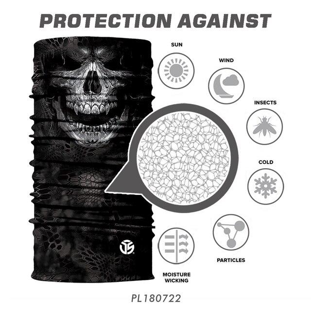 3D Seamless Bandana Neck Gaite Breathable Head Shield Half Face Cover Headband Anti-UV 5