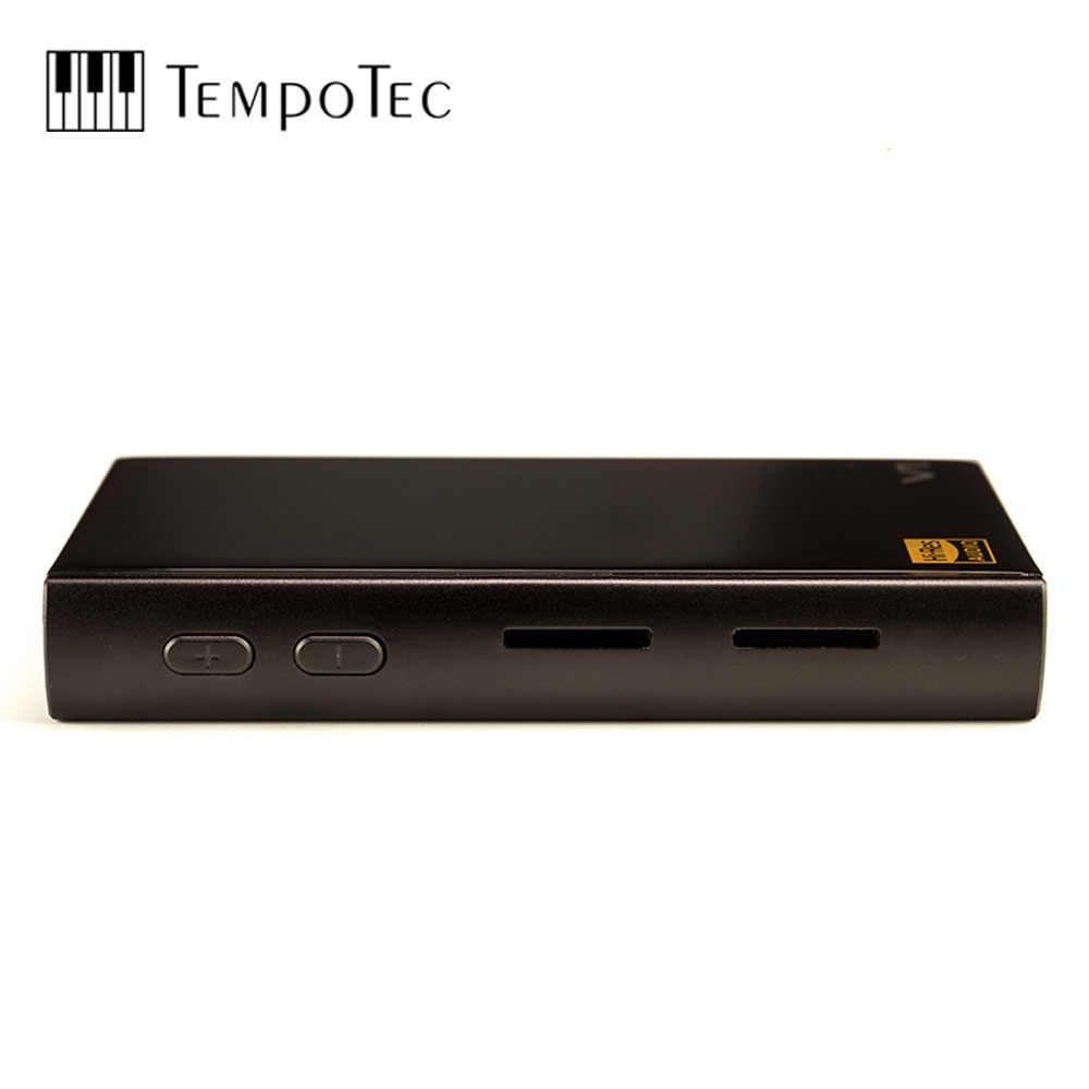 をtempotecバリエーションV1ハイファイデジタルMP3プレーヤーなしアナログとサポートbluetooth ldacイン & アウトusb dac & アンプ