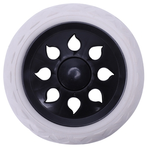 2 pcs Hot Wheel Design trolley luggage travelers cartwheels 15.8 x 3.4 cm - Black & White