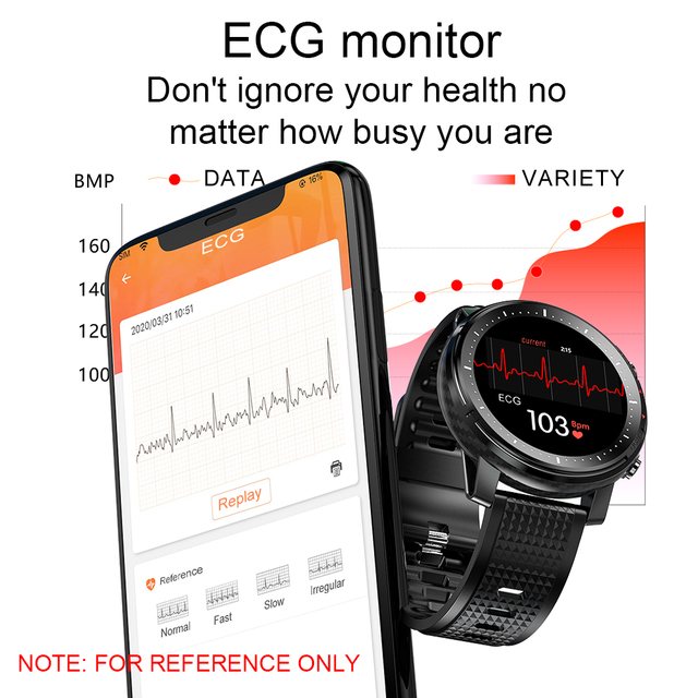 2021 LIGE IP68 Waterproof Smart Watch Men ECG Heart Rate Blood Pressure Monitor LED Flashlight Sports Fitness Tracker smartwatch 5