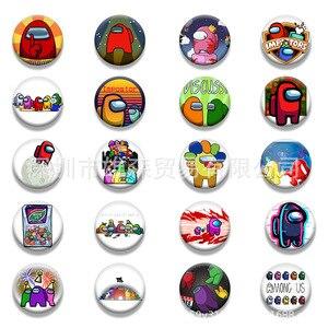 3pcs random Hot Game Among Us Badge For Backpack DIY Cartoon Icon Lapel Pins Brooch For Women Men Bag Badge Couple Gift Decor