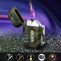 Waterproof USB Plasma Lighter Double Arc for Outdoor Survival Camping Sports Cigarette Lighter Windproof  Electronic Lighters|Cigarette Accessories|Home & Garden -