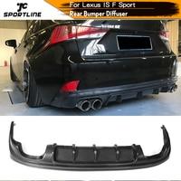 Rear Bumper Diffuser Lip Spoiler Guard for Lexus IS F Sport Sedan 2013 2016 Car Styling Carbon Fiber / FRP