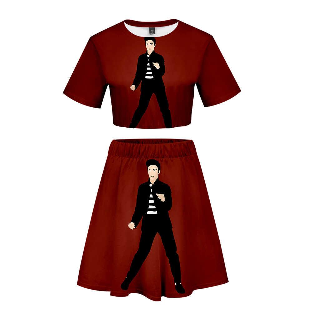 Nueva caliente Falda corta de Verano de la alta calidad de la camiseta y Falda corta de traje