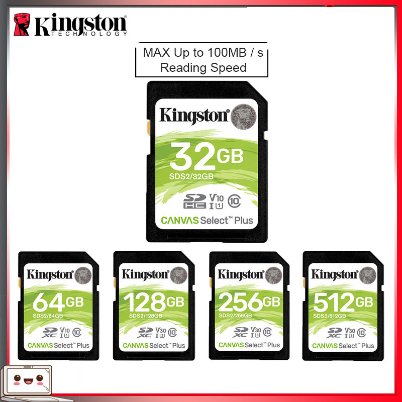 Kingston SD kart 32 GB 64 GB 128 GB hafıza kartı cartao de memória SDHC/SDXC Micro SD kart 256GB HD 1080p ve 4K Video kamera