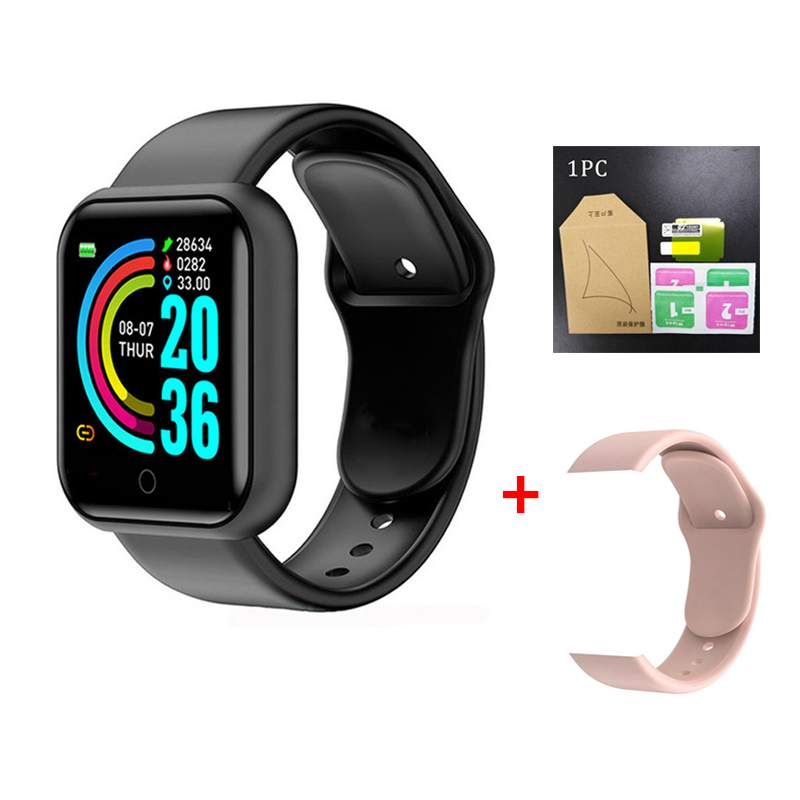 Y68 D20 Smart Watch Bluetooth Blood Pressure Fitness Tracker Waterproof Heart Rate Monitor Smartwatch for Apple IOS Android