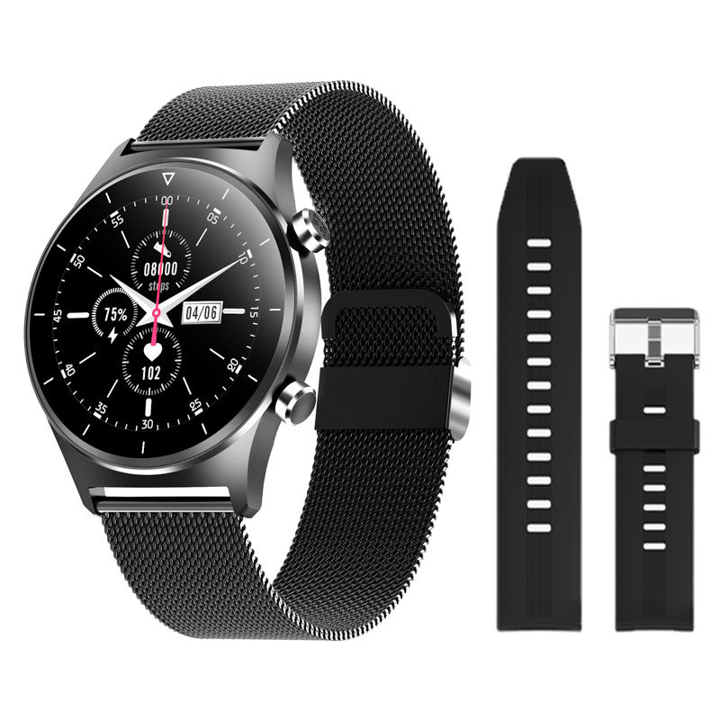 H3b8e438455644e8f927f074569381418H E1-3 Smart Watch Men 1.28 inch Full Touch Screen IP68 Waterproof Bluetooth 5.0 Sports Fitness Tracker Smartwatch For Android IOS