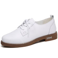 kilobili Oxfords Genuine Leather Lace up Moccains Women Flats