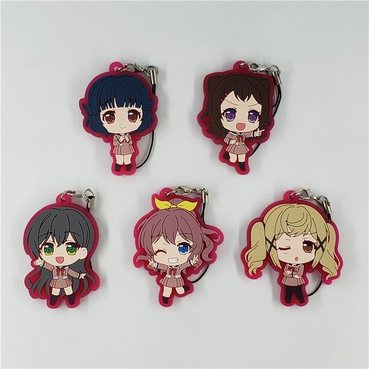 Bandori BanG Dream Poppin'Party Rimi Capsule Rubber Swing Key Chain Mascot