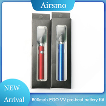 Atomizer Battery Charger Kit 600mah EGO VV pre-heat battery 3.4v/3.7v/4.2V 510 Pre-heat Charging For CBD