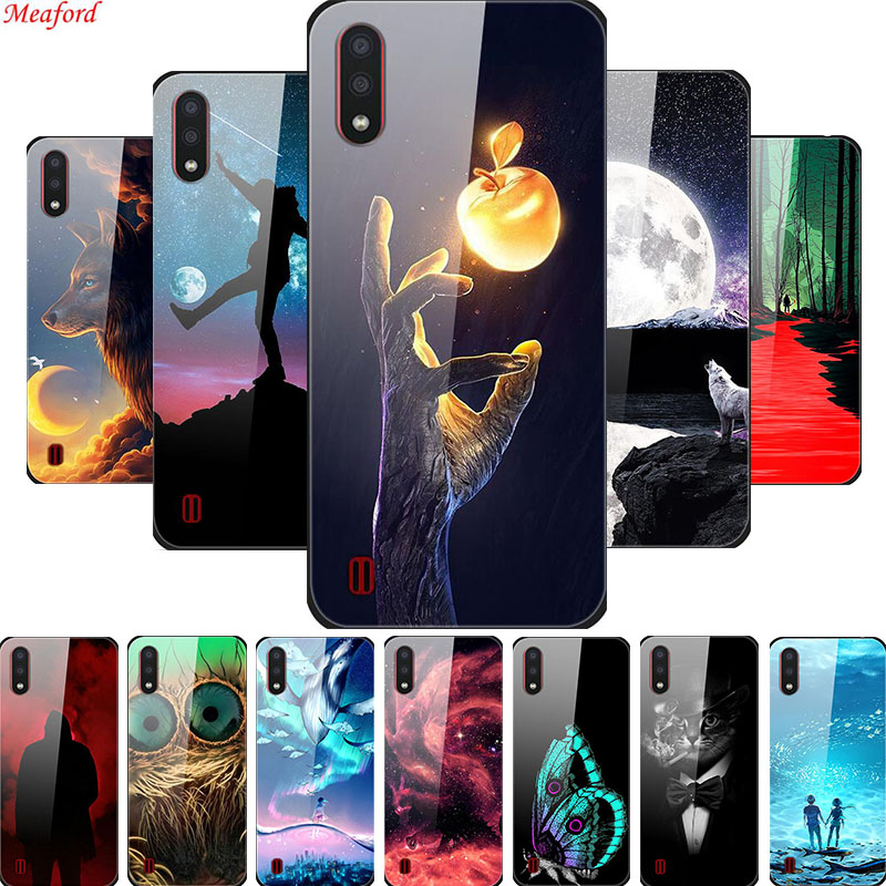 Coque For <font><b>Samsung</b></font> Galaxy A01 A30s <font><b>A50</b></font> <font><b>Case</b></font> Tempered <font><b>Glass</b></font> Back Cover Phone <font><b>Case</b></font> For <font><b>Samsung</b></font> <font><b>A50</b></font> A30s A50s A01 <font><b>Case</b></font> A 50 A 30s image