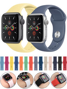 Sport Silicone Strap Belt Bracelet Correa for Apple Watch 5 4 3 2 Accessories 38mm 42mm