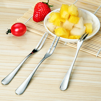 5Pcs Hotel Restaurant Party Supplies Salad Snacks Cake Dessert Stainless Steel Lovely Fruit Fork Tableware Cooking