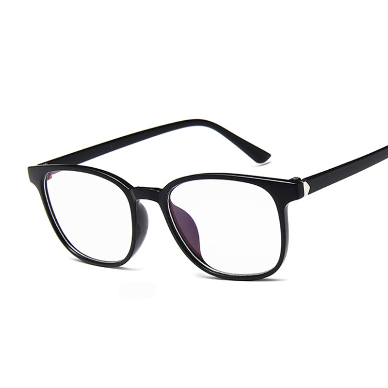 New Vintage Blue Eyeglasses Women Men Retro Eye Glasses Frame For Female Transparent Fake Glasses Female Clear Frame