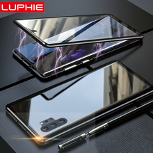 Luphie 360 Full Wrap Case for Samsung Note 10 9H Tempered Glass Mobile Phone Cases Galaxy Plus Cover