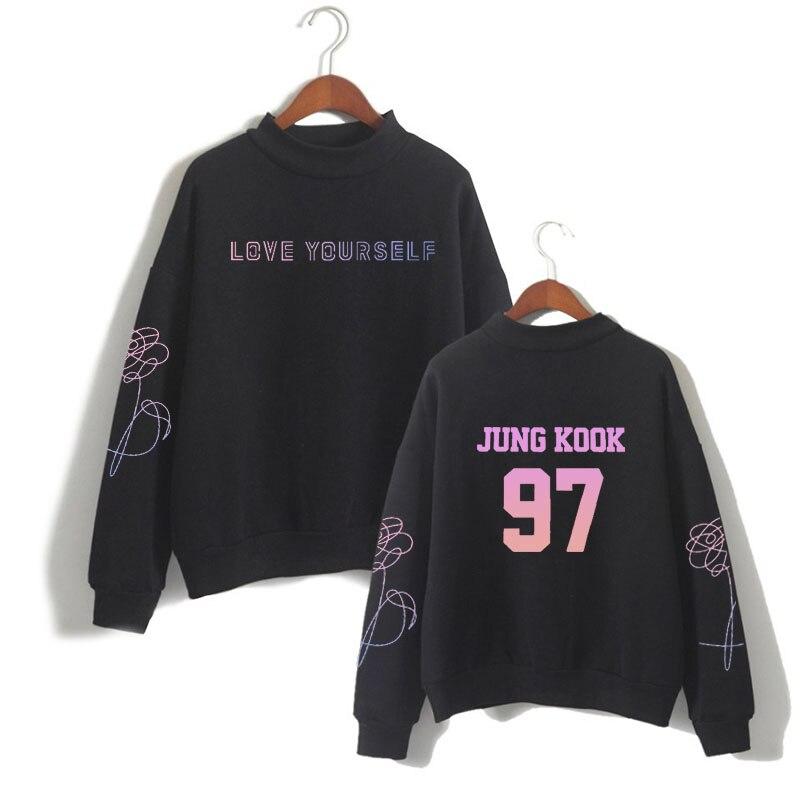 K-pop Bangtan Boys love yourself Jungkook97 толстовка с капюшоном в стиле хип-хоп, Высококачественная коллекция одежды R & B, толстовка унисекс