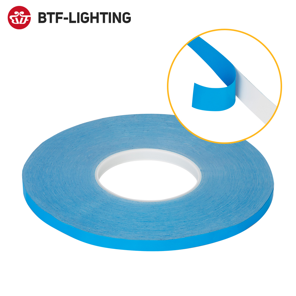 50meter Roll Adhesive Tape 8mm 10mm 12mm 20mm Width Transfer Tape Double Side Thermal Conductive for Chip PCB LED Strip Heatsink