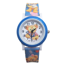 2019 New Design Kid Baby Watches Children Cartoon Bear Watch Kids Cool 3D Rubber Strap Quartz Clock girls boys Present Gift