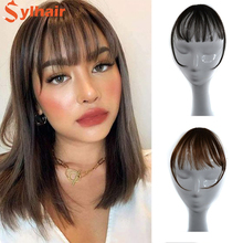 Sylhair Wig air bangs Wig Non-Remy Hair Short Hairpieces for women Hair Extension Clip In Front Hair Bangs Wigs Hair Human Hair