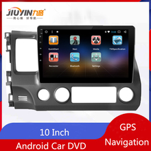 цена на JIUYIN Android Car DVD GPS Player For Honda Civic 2006 2007 2008 2009 With Radio  Navigation Quad Core Multimedia Player