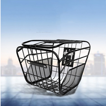 Oversized metal Bicycle Basket Anti-Rust Detachable Container Bike Accessory For Road Mountain Folding Electric bicycle