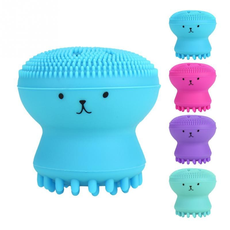 Cute Silicone Octopus Jellyfish Facial Cleansing Brush Facial Massage Exfoliating Tool Cleanser Face Deep Cleaning Powered Facial Cleansing Devices Aliexpress