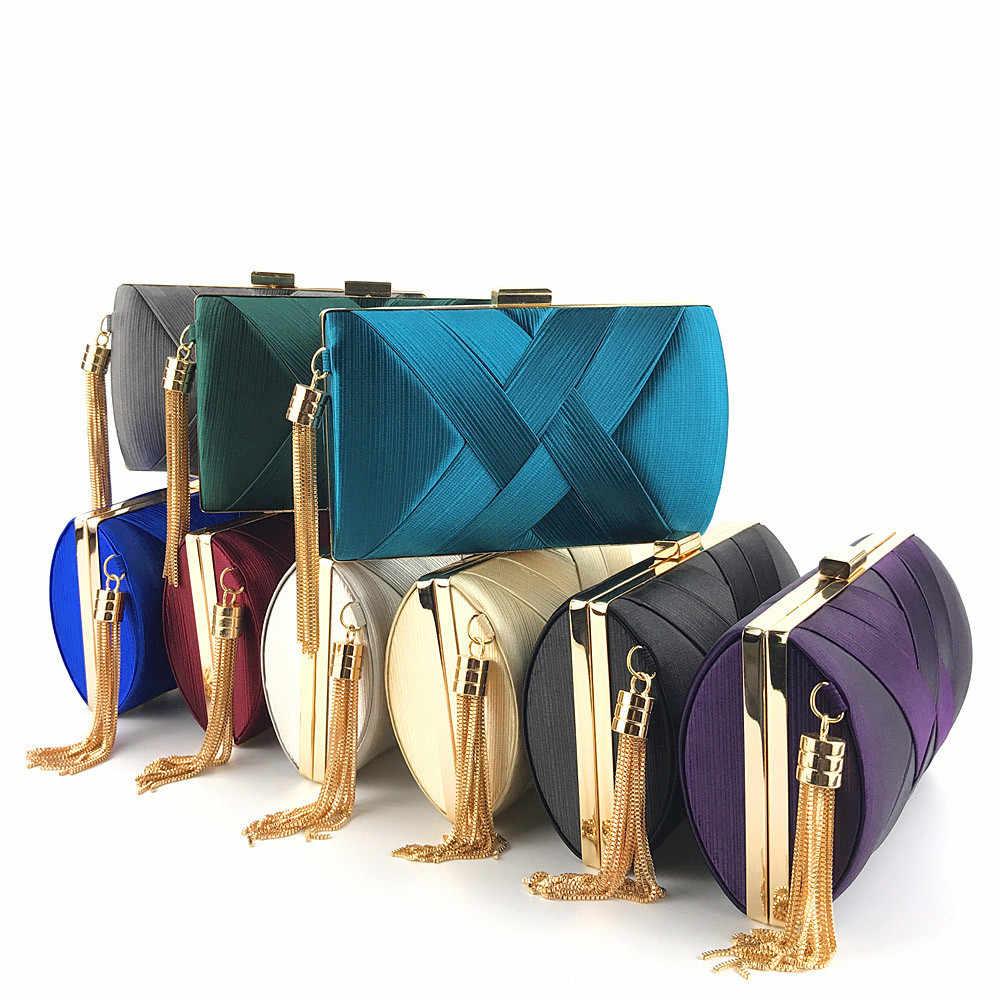 Evening Clutch Bags Wanita Bling Mengkilap Chain Tas Bahu Women 'S Tas Tangan Dompet Dompet Casing untuk Pesta Pernikahan Bolsa Tangan tas