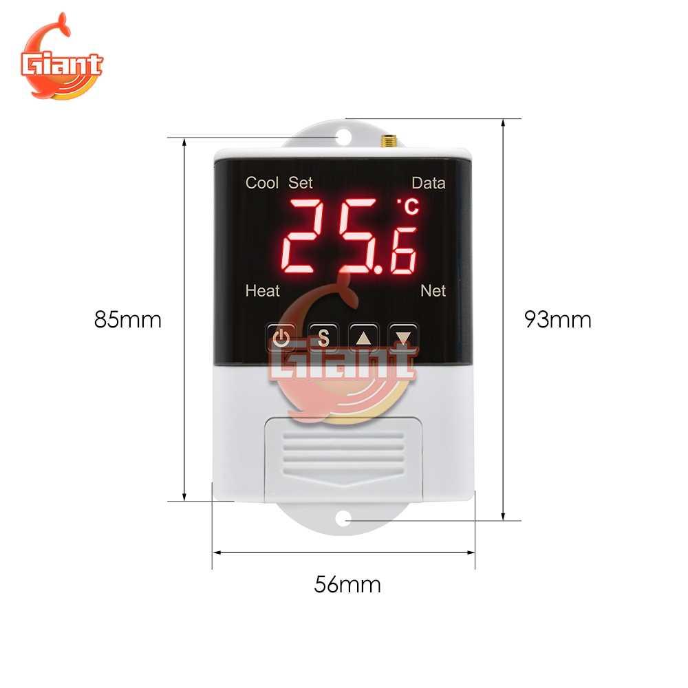DTC1201 AC 110V 220V termostat NTC dijital ekran WiFi sıcaklık kontrol cihazı elektronik dijital termoregülatör W3001