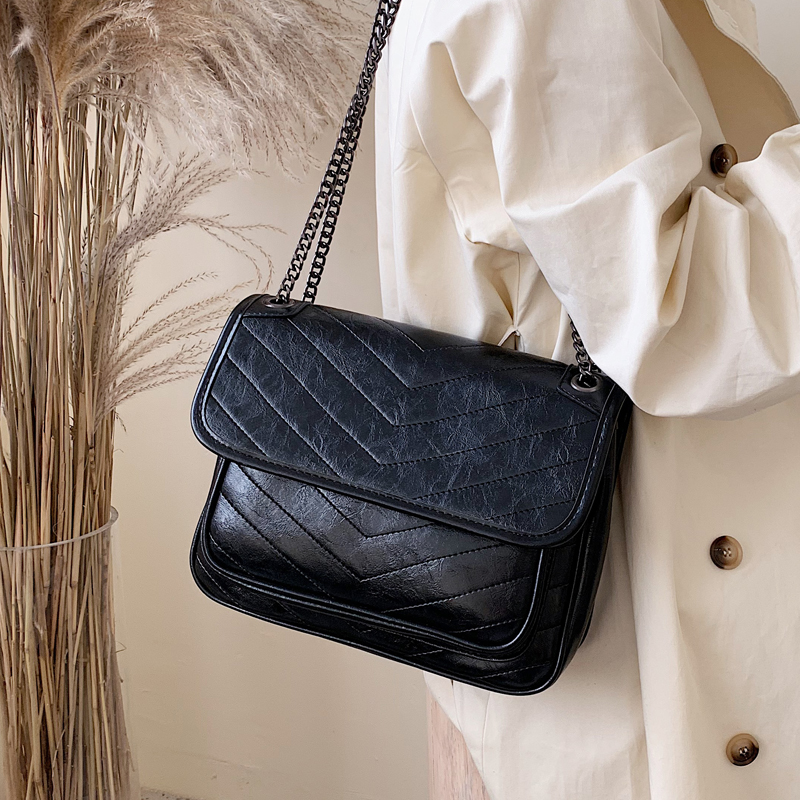 LITTHING Fashion Simple Small Square Bag Women's Designer Handbag 2019 High-quality PU Leather Chain Mobile Phone Shoulder Bags