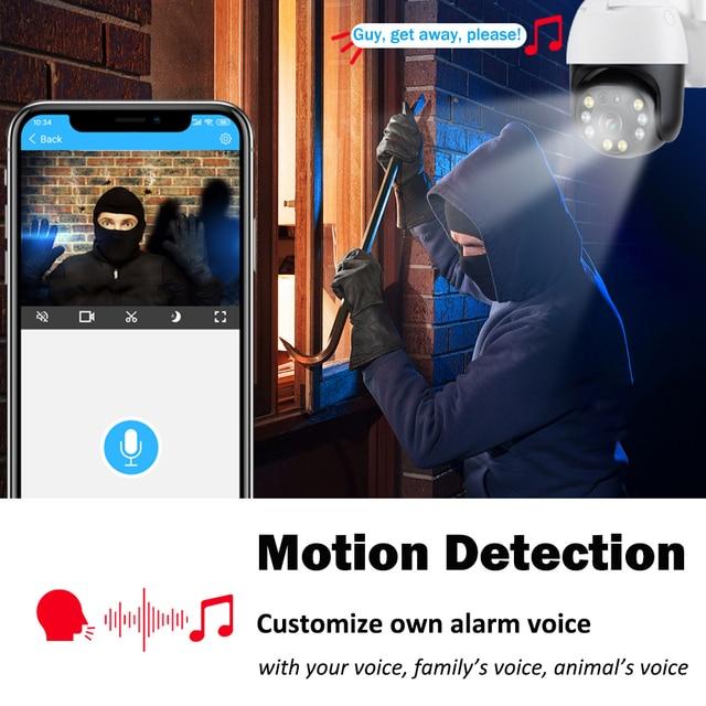 5MP caméra surveillance PTZ Wifi IP caméra extérieure 4X numérique Zoom AI humain détecter H.265 P2P ONVIF Audio sécurité CCTV sans fil camera video surveillance 4