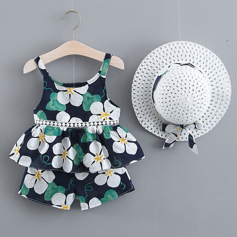 Melario Girls Clothing Sets summer New 2019 Brand Girls Clothes White Cartoon Short Sleeve T Shirt Pants 2Pcs Children Clothes in Clothing Sets from Mother Kids
