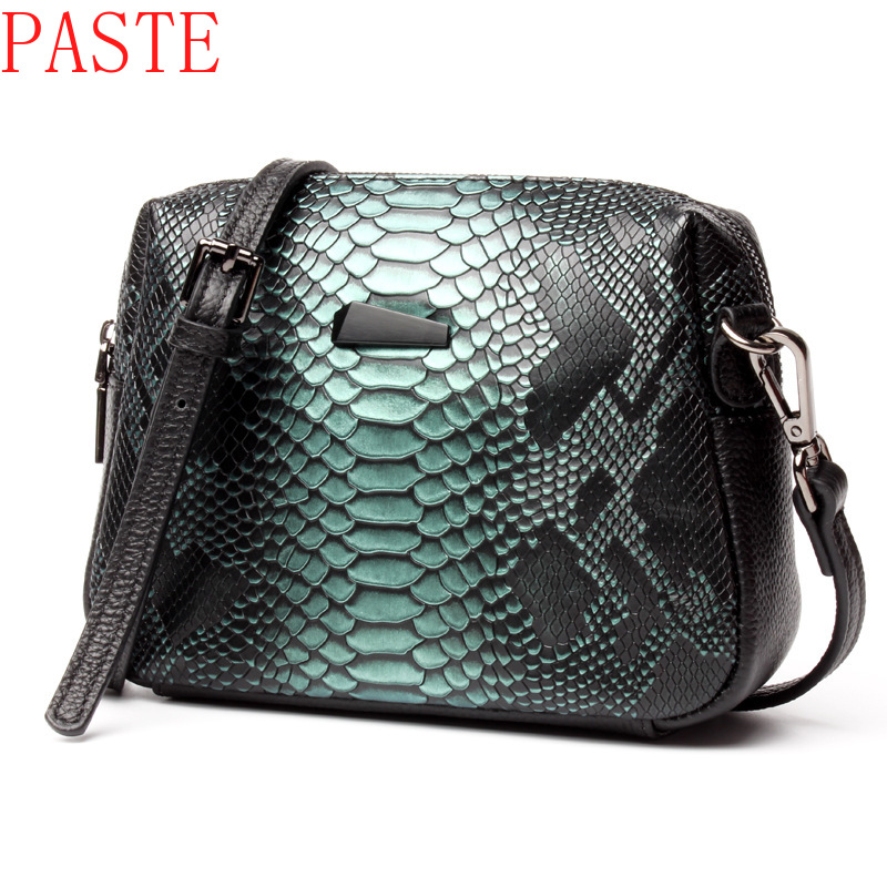 Top Quality Brand Women Messenger Bags Genuine Leather Crossbody Bag Ladies Handbags With Tassel Serpentine Pattern Leather Bag