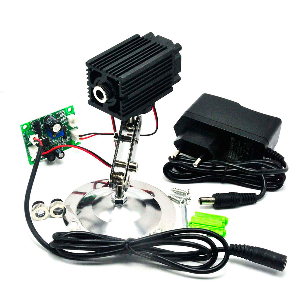 Dot/Line/Cross Focusable 808nm 500mW Infrared IR Laser Diode Module W/ Holder And 12V 1A Adapter TTL Modulation