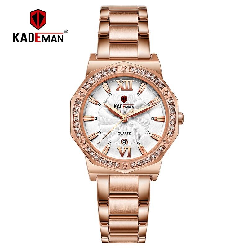 New Sweet Ladies Wristwatch Full Steel Bracelet Luxury Crystal Women Watches TOP Quality Fashion Brand Design Female Dress Watch