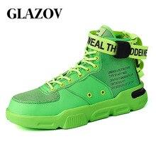 Erkek yüksek en moda ayakkabı Trend sıcak satış rahat erkek rahat ayakkabılar Hip Hop çile açık kaymaz nefes erkek ayakkabısı