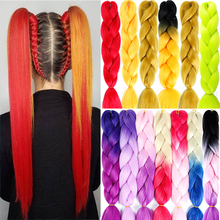 AILIADE 24 inch Jumbo Braids Long Ombre Synthetic Braiding K