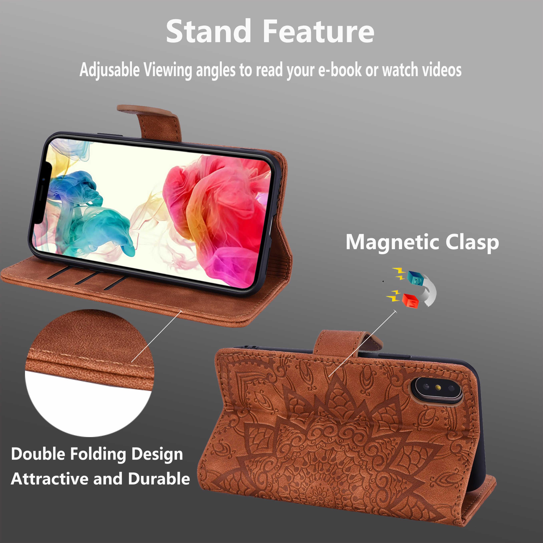 Skórzane obudowa do Xiaomi czerwony mi uwaga 8 Pro Case dla czerwonego mi uwaga 7 6 5 4X4 7A K20 pro 3D kwiat etui flip wallet Case dla czerwony mi 7 A3