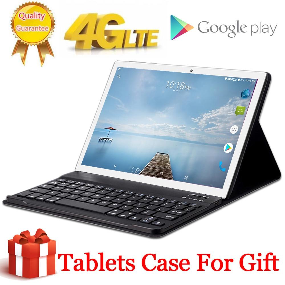 Presente livre tablet capa 4g lte 10.1 polegada 2.5d tablet pc 10 deca núcleo mtk6797 8 gb ram 128 gb 256 rom 2560*1600 android 8.0