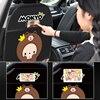 Cute Children Car Rear Seat Protector Cartoon Monkey Car Seat Back Cover Protector for Kids Baby Anti Kick Mat Pad Storage Bag review