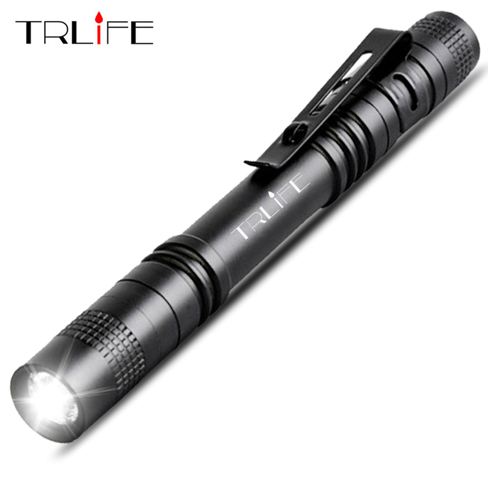 Mini Portable Small Penholder Led Flashlight Night Walking Lighting Car Maintenance Work Linterna LED Waterproof Torch