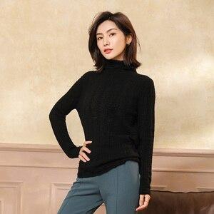 Image 2 - 100% Cashmere เสื้อกันหนาวถักผู้หญิงคุณภาพสูงคอเต่า 4 สีสุภาพสตรี Pullovers ฤดูหนาวใหม่แฟชั่นเสื้อผ้า