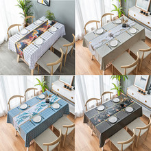 Pvc Table Cloth Tablecloth Rectangular for Living Room Plastic Oilcloth and Waterproof Coffee Table Cover for Dining Table Decor