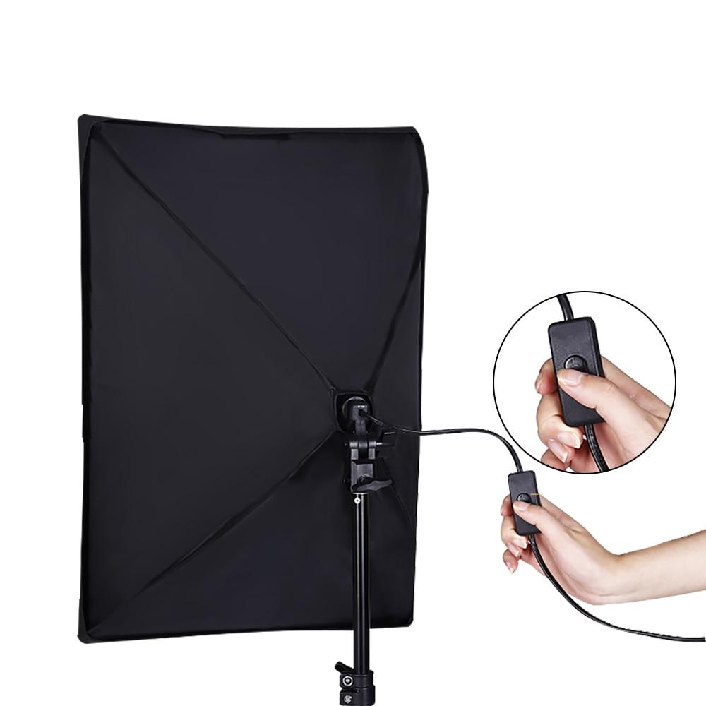 Kits ndriçimi të kutisë së butë fotografike 50x70cm pajisje - Kamera dhe foto - Foto 5