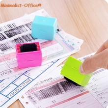 Toy Plastic 1pcs Stamp Self-Inking-Stamp Roller Theft-Sticks Information Protect Identity