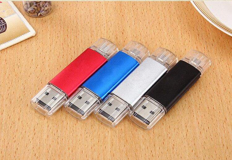 High Speed Cle Usb OTG 64GB Pen Drive USB Flash Drive 128GB External Storage Memory Stick 32GB 16GB 8GB Micro USB Stick Pendrive