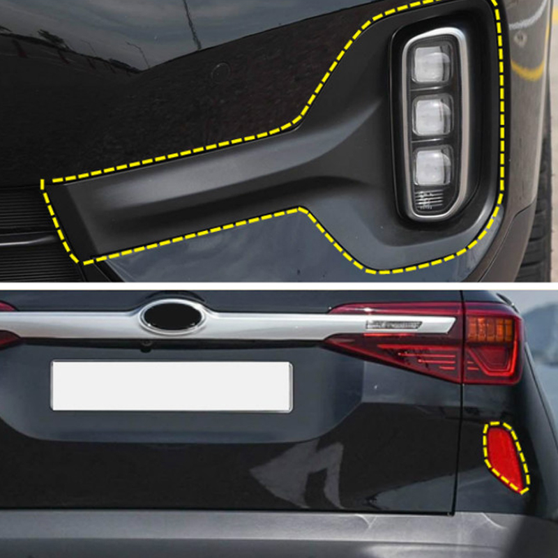 For Kia Seltos 2019 2020 Front & Rear Fog Lights Frame Cover Trim Car Styling Accessories
